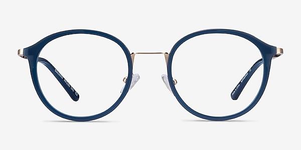 Colman Navy Acetate-metal Eyeglass Frames