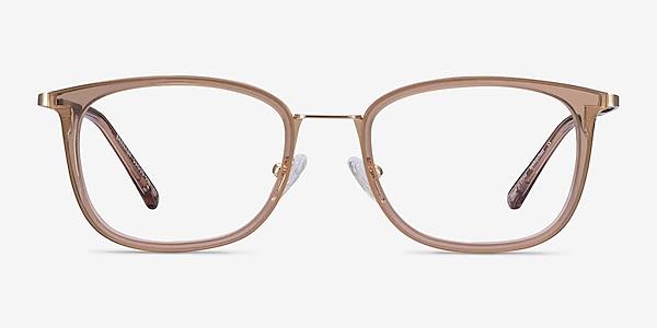 Barnaby Clear Brown Acetate-metal Eyeglass Frames