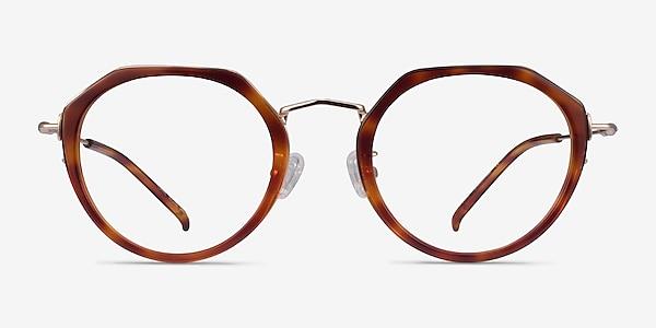 Claire Tortoise  Gold Acetate Eyeglass Frames
