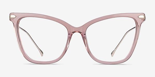 Domy Clear Pink Acetate-metal Eyeglass Frames