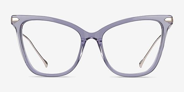 Domy Clear Purple Acetate-metal Eyeglass Frames