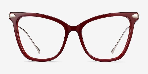 Domy Burgundy Acetate-metal Eyeglass Frames