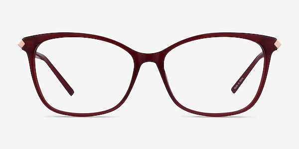 Ashley Burgundy Acetate-metal Eyeglass Frames