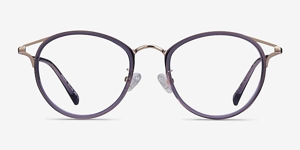 Dazzle Violet Acetate-metal Montures de lunettes de vue