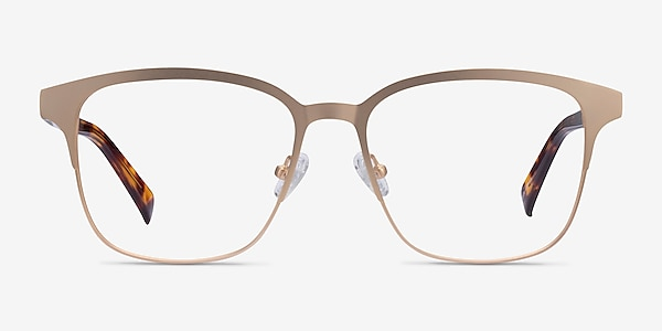 Intense Matte Gold Tortoise Acetate Eyeglass Frames