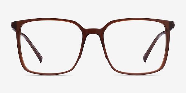 Easton Clear Brown Acetate-metal Montures de lunettes de vue