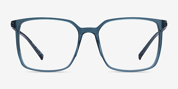 Easton Clear Blue Acetate-metal Montures de lunettes de vue