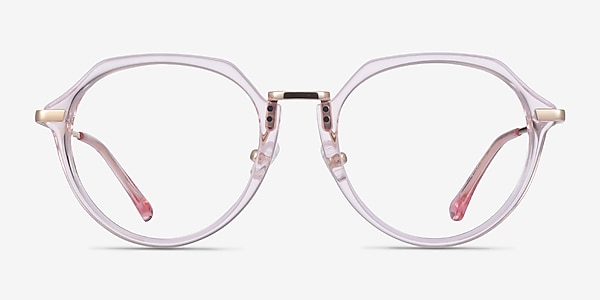 Tamara Clear Pink Acetate Eyeglass Frames