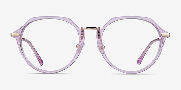 Tamara Clear Purple Acetate Eyeglass Frames