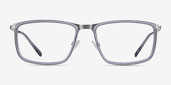 Kairo Clear Gray Silver Acetate Eyeglass Frames
