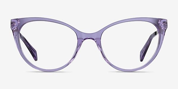 Beauty Clear Purple Acetate-metal Montures de lunettes de vue