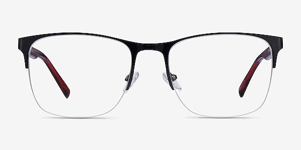 Emmerson Shiny Black & Red Acetate-metal Eyeglass Frames