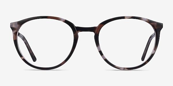 Mindful Ivory Tortoise Silver Acétate Montures de lunettes de vue