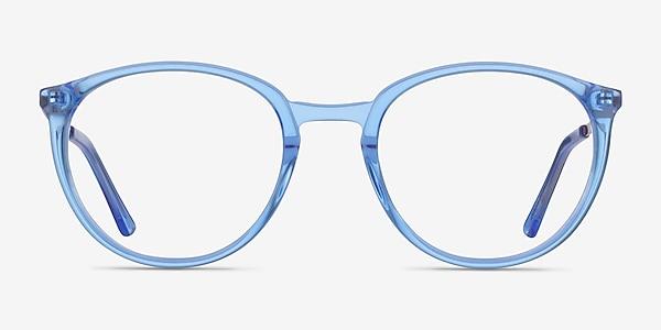 Mindful Clear Blue  Gold Acetate Eyeglass Frames