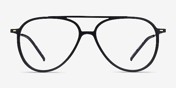 Clip Matte Black & Gold Plastic-metal Montures de lunettes de vue
