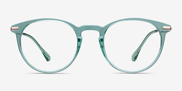Particle Clear Green & Rose Gold Plastic-metal Montures de lunettes de vue