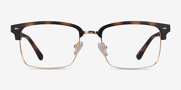 Renaissance Matte Tortoise & Gold Metal Eyeglass Frames