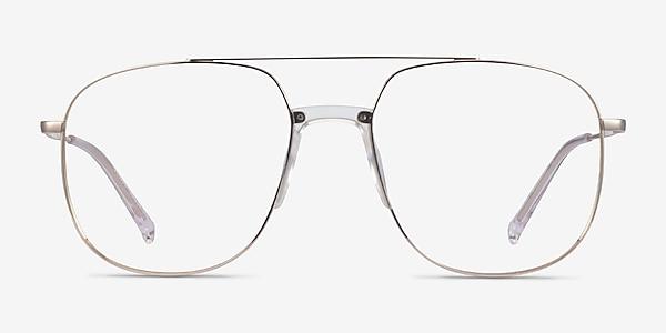 Subject Gold & Clear Acetate-metal Montures de lunettes de vue