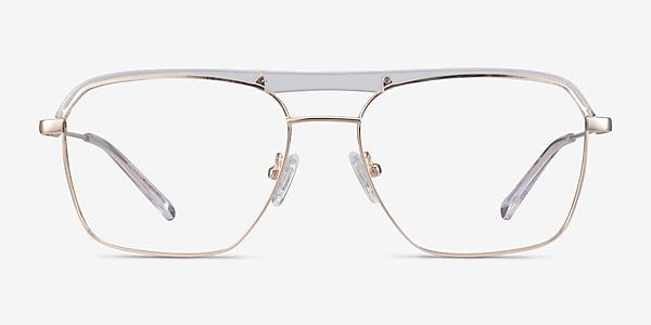 Dynamo Clear & Gold Acetate-metal Eyeglass Frames