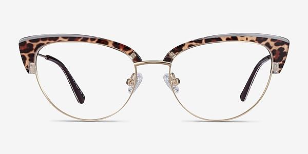 Essential Leopard & Gold Acetate-metal Montures de lunettes de vue