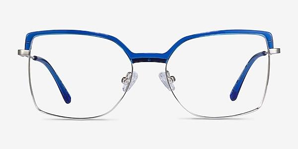 Further Blue & Silver Acetate-metal Eyeglass Frames