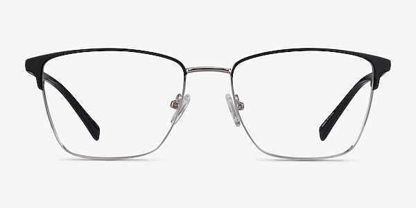 Moore Black Silver Acetate Eyeglass Frames