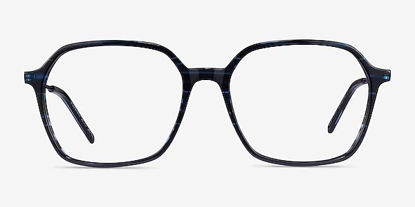 Modernity Striped Blue Acetate Eyeglass Frames