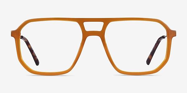 Iconic Mellow Yellow & Silver Acetate-metal Montures de lunettes de vue