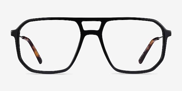 Iconic Black & Silver Acetate-metal Eyeglass Frames