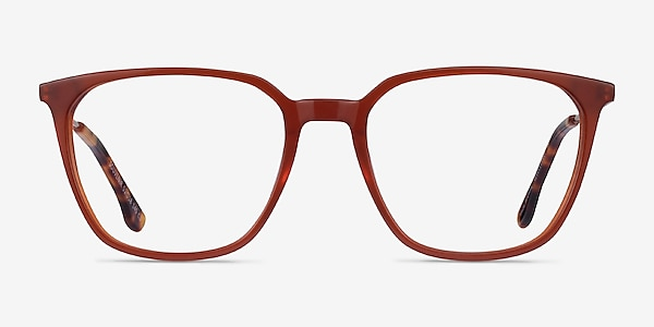 Souvenir Terracotta Orange Light Gold Acetate Eyeglass Frames