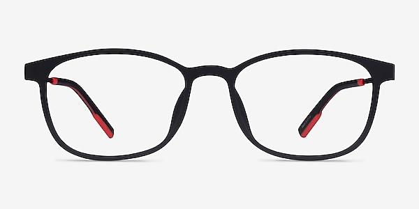 Idea Matte Black  Plastic Eyeglass Frames