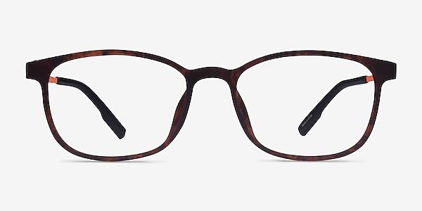 Idea Matte Tortoise Orange Plastic Eyeglass Frames