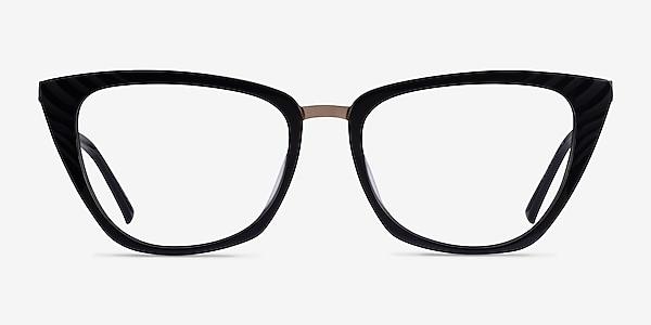 Trenta Black Gold Acetate Eyeglass Frames