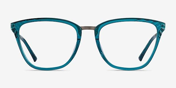 Azur Aqua Silver Acetate Eyeglass Frames