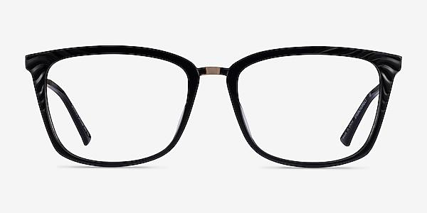 Grande Black Gold Acetate Eyeglass Frames