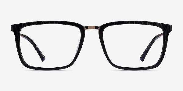 Volume Black Gold Acetate Eyeglass Frames