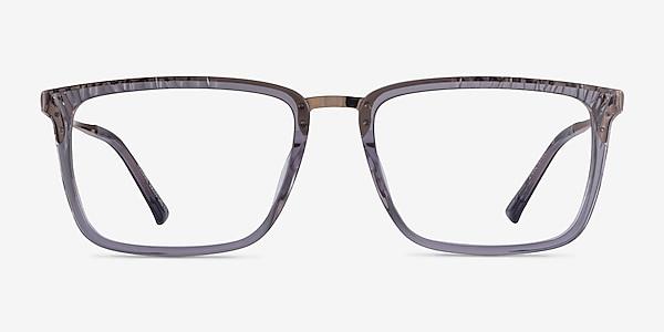 Volume Clear Gray Acetate Eyeglass Frames