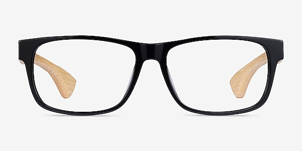 Taiga Black & Light Wood Acetate Eyeglass Frames