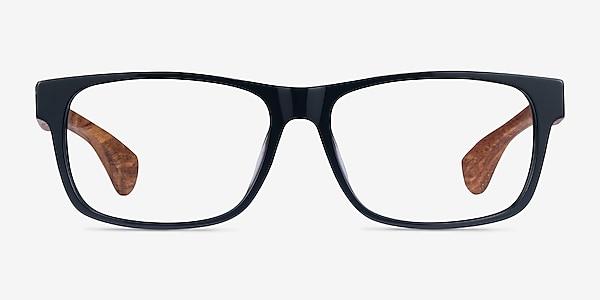 Taiga Dark Gray & Wood Acetate Eyeglass Frames