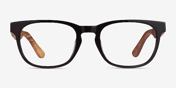 Tongass Dark Brown & Wood Acétate Montures de lunettes de vue
