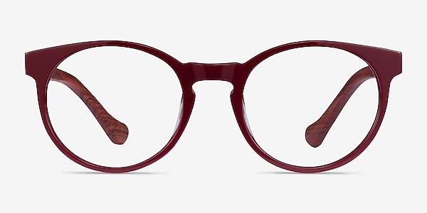 Everglades Red & Red Wood Acétate Montures de lunettes de vue