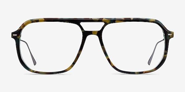 Intrepid Green Tortoise Acetate Eyeglass Frames