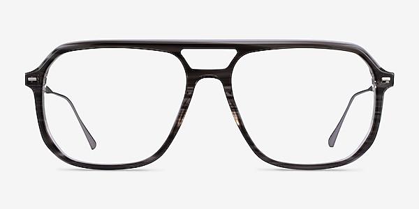 Intrepid Gray Striped Acetate Eyeglass Frames