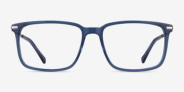Boscus Clear Blue Silver Acetate Eyeglass Frames