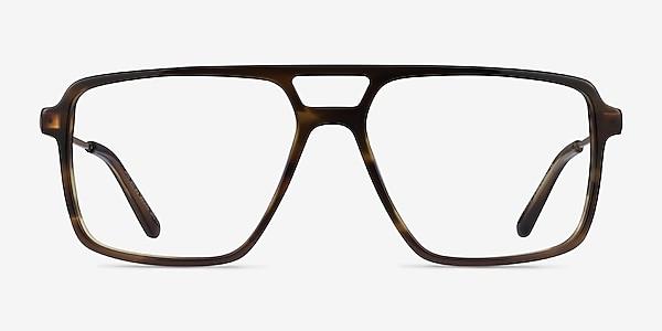 San Diego Striped Green Gold Acétate Montures de lunettes de vue
