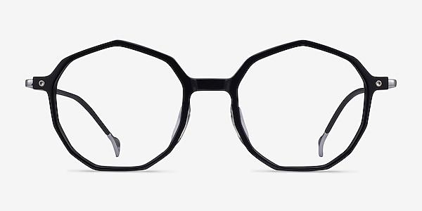 Carmelo Black Silver Acetate Eyeglass Frames