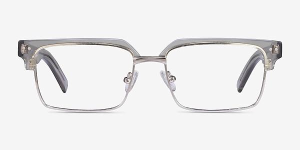 Byron Clear Gray Sliver Acétate Montures de lunettes de vue