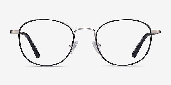 Kogarashi Black Silver Acetate Eyeglass Frames