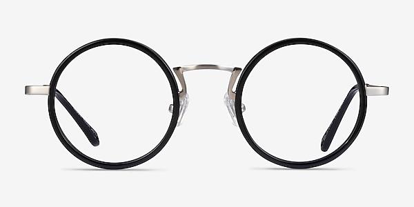 Nagoya Black Silver Acetate Eyeglass Frames