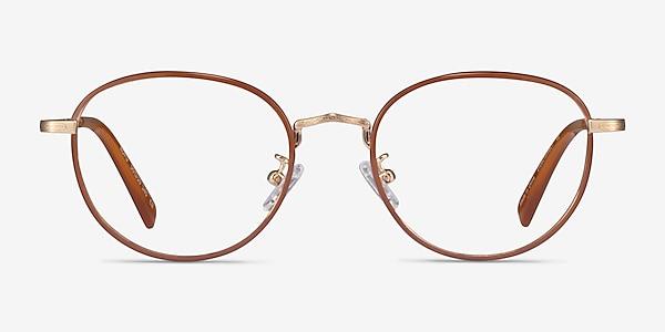 Kofu Brown Gold Acetate Eyeglass Frames